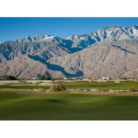 Golf Course with Mountain Range, Desert Princess Country Club, Palm Springs Print Wall -
