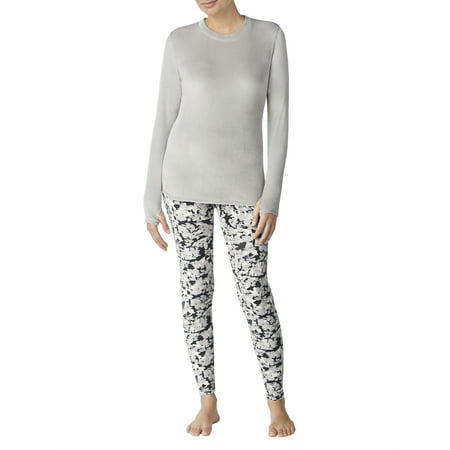 e40c45437aba0b ClimateRight by Cuddl Duds by Cuddl Duds - Stretch luxe velour Warm  Underwear Top and Legging - Walmart.com