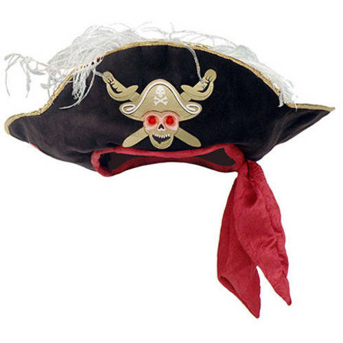 Chantilly Lane Everyday Fun Pirate Hat with Light Up Eyes