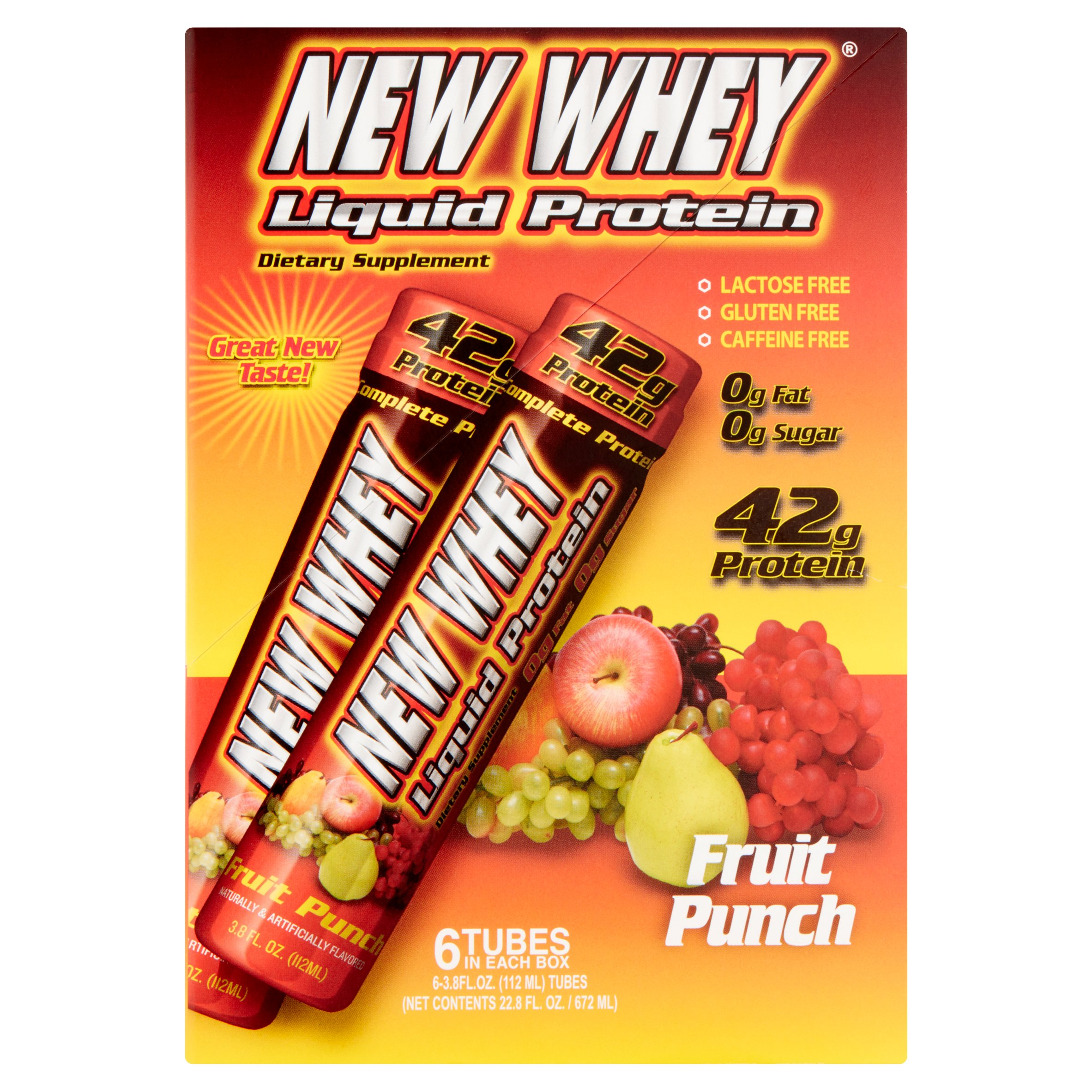 New Whey Protein Drink, 42 Grams of Protein, Fruit Punch, 3.8 Oz, 6 Ct