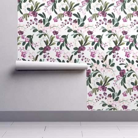 - Peel-and-Stick Removable Wallpaper Garden Flowers Florals Pretty Plants