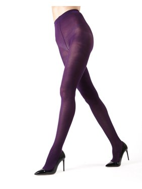 f2bd15f31158e Product Image Memoi Pima Cotton Tights | Women's Hosiery - Pantyhose -  Nylons Large/Xlarge / Blackberry
