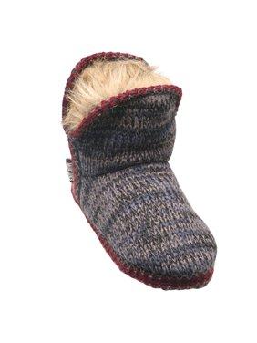 72c823ae33a2a Product Image Muk Luks Women's Amira Serape Slipper Boots - Fleece Lined  Denim Blue Knit