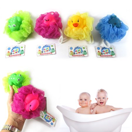 4 Kids Mesh Sponges Bath Sponge Scrub Stuffed Animal