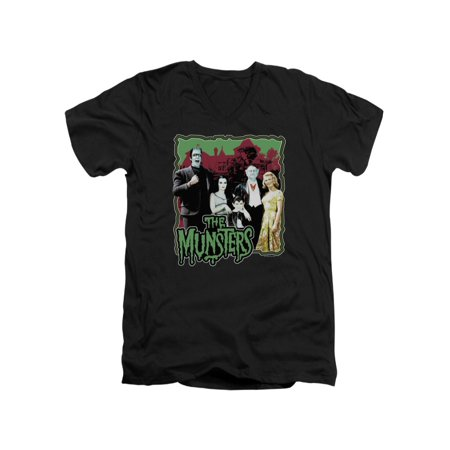 The Munsters 60's TV Seriesnormal Family Adult V-Neck T-Shirt (Mens 60's Clothes)
