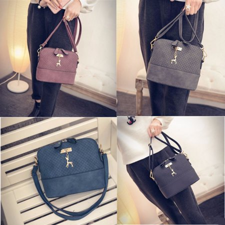 Fashion Women Shoulder Bag Faux Leather Cross Body Messenger Tote Purse -