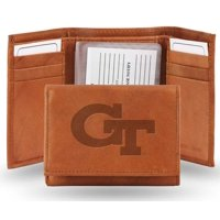 Georgia Tech Embossed Leather Trifold Wallet (Manmade Interior)