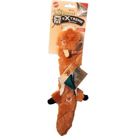 SPOT Mini Skinneeez Extreme Quilted Chipmunk Dog Toy 14