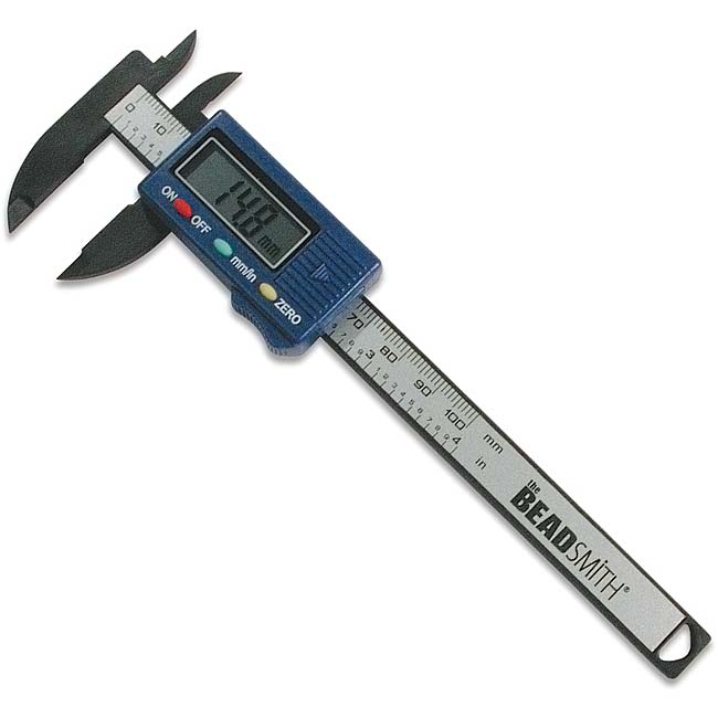 BeadSmith Digital Caliper - Measures Inner/Outer Diameters In Inches/Millimeters