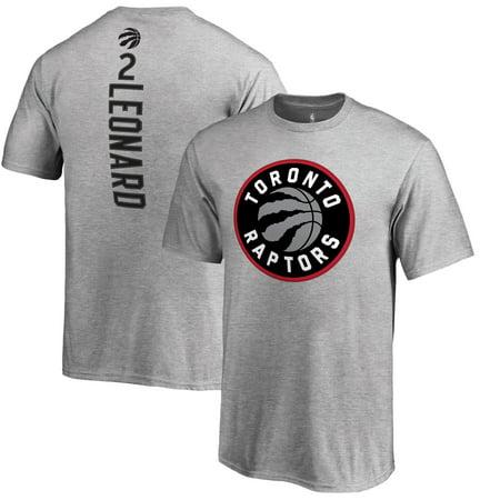 san francisco d05c6 92976 Kawhi Leonard Toronto Raptors Fanatics Branded Youth Team Backer Name &  Number T-Shirt - Heathered Gray