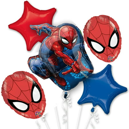 Spiderman Balloon Bouquet - Spider Man Decorations