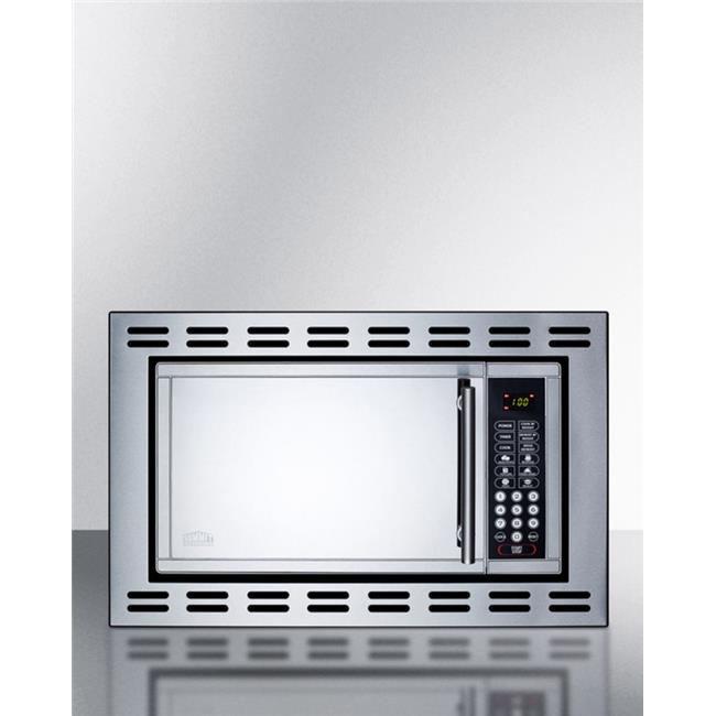 Summit Appliance OTR24 Built in Microwave Oven for Enclosed Installation, Stainless Steel