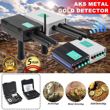 Updated Microcomputer AKS Metal Detector 3281FT Long Range Finder Undergroun d Depth Scanner Geolocation Tracker & Distance Targeting for Gold, Silver, Coins, Jewelry,