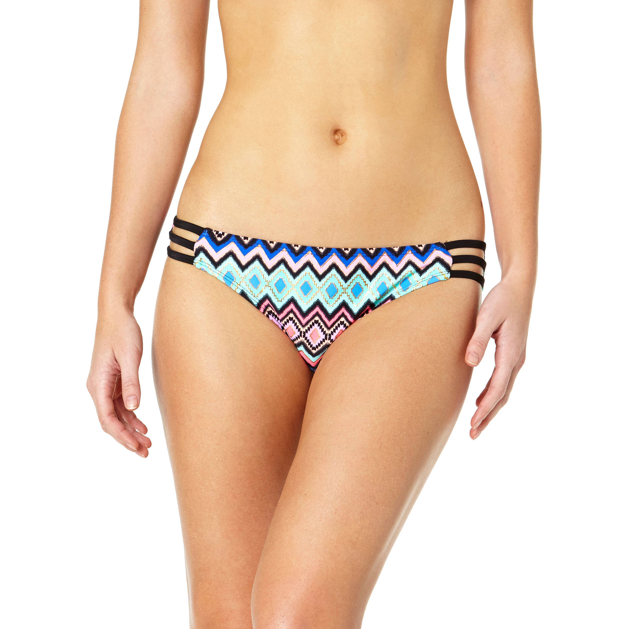 Tahiti Women's Strappy Scoop Bikini Swimsuit Bottom