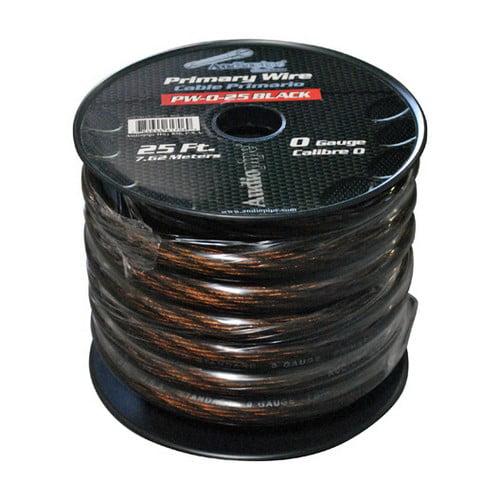 Audiopipe PW025BK Power Wire 0Ga. 25' Black