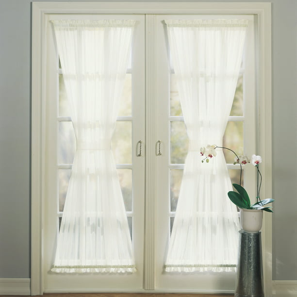 No 918 Emily Sheer Voile Door Curtain