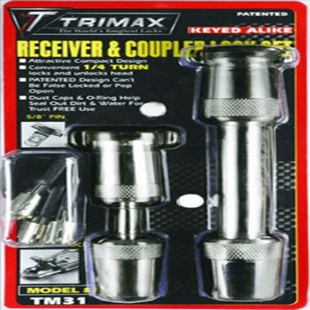 Trimax Keyed-Alike Receiver and Coupler Lock Set for Class III Trailer Receivers (TC1/T3)