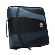 "Case It Dual 2.0 2"" Zipper Binder, 2 Sets of 2"" D-Rings, 4"" Capacity"