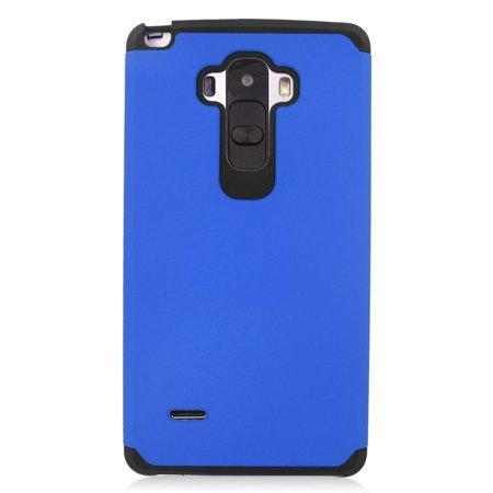 Insten Hard Hybrid Rubber Coated Silicone Cover Case For LG G Stylo/G Vista 2 - Blue/Black - image 3 de 3