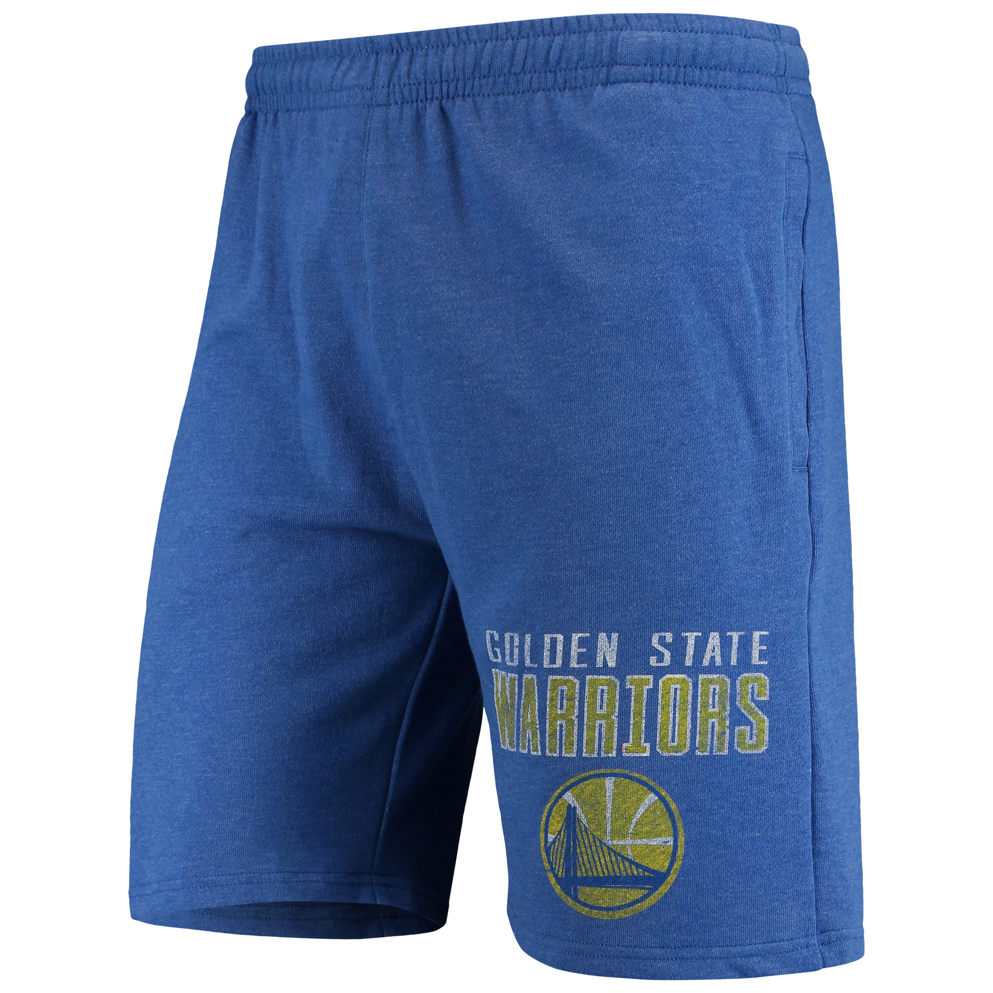 Golden State Warriors Concepts Sport Squeeze Play Knit Shorts - Heathered Royal