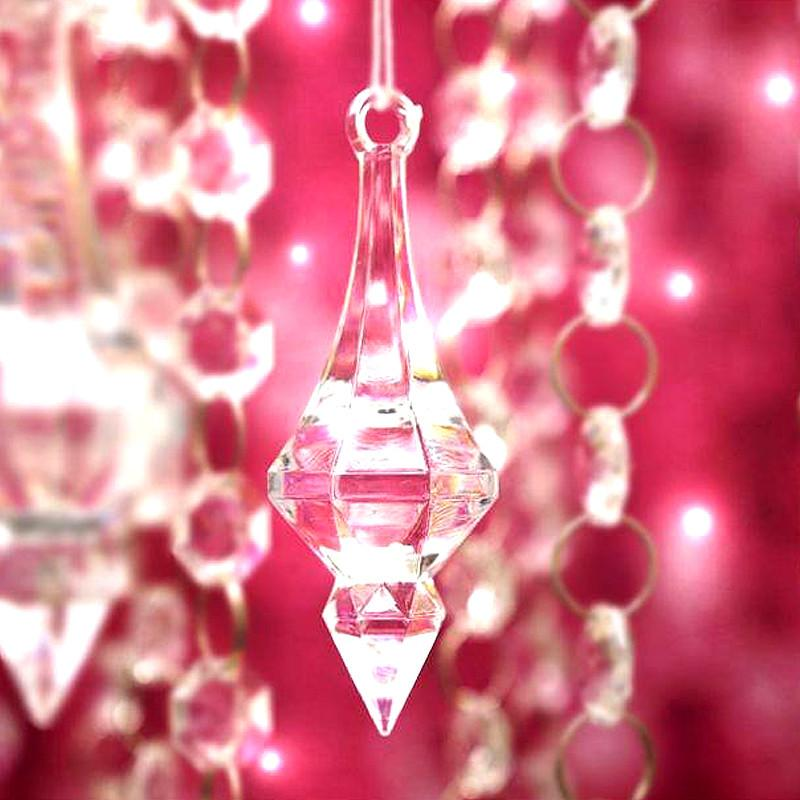 Efavormart Cupids Diamond Arrowheads 50 pcs Acrylic Clear