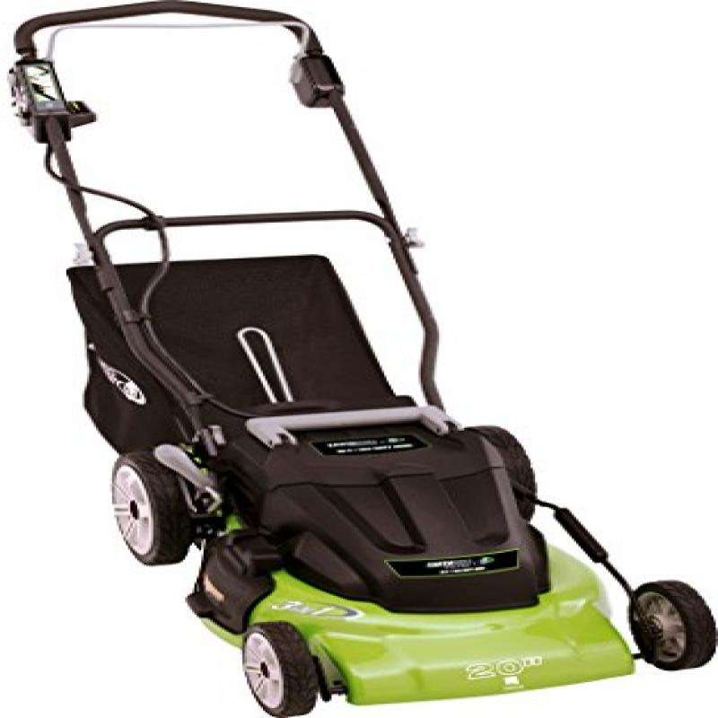 "Earthwise 20"" Cordless 36 V Electric Lawn Mower"
