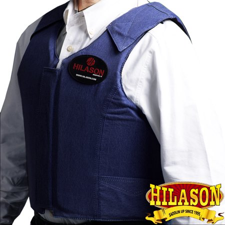 - XXX LARGE HILASON DARK DENIUM PRO RODEO HORSE RIDING PROTECTIVE VEST