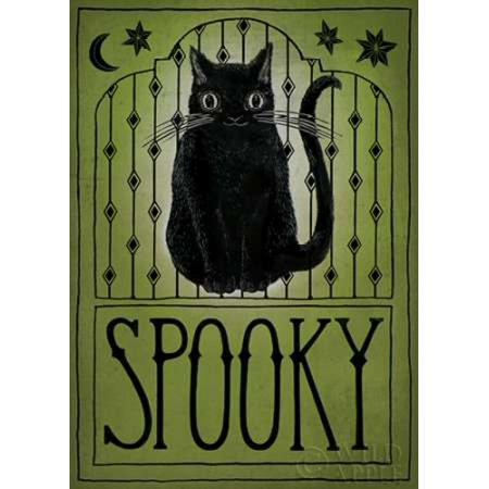 Vintage Halloween Spooky Poster Print by Sara Zieve Miller - Halloween Spooky Sounds Mp3