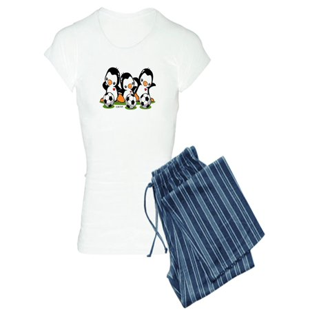 CafePress - Soccer Penguins - Women's Light Pajamas