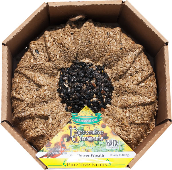 Pine Tree Farms Sunflower Seed Wreath,Sunflower Hearts Black Oil Sunflower Seed