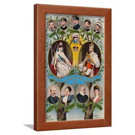Commemorative Illustration of 1911 British Coronation Framed Print Wall Art