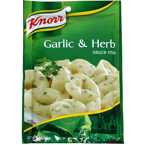 Knorr Garlic & Herb Sauce Mix, 1.6 oz, (Pack of 12)