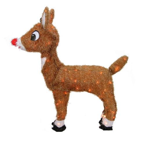 Northlight Seasonal Rudolph the Red-Nosed Reindeer Pre-Lit Christmas Yard Art Decoration