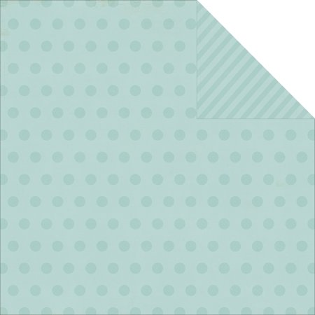 Simple Stories  Say Cheese Collection  12 x 12 Double Sided Paper  Blue (12 Double Dot Paper)