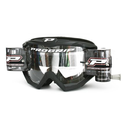 Pro Grip 3201 MX Goggles With Mounted Roll Off System Black
