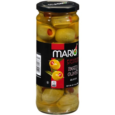 Mario® Pimento Stuffed Queen Party Olives 10 oz. Jar - Party City Halloween Stuff