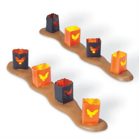 Department 56 Halloween Village Spooky Sidewalk Luminaries 810797 (Halloween Village Parade 2017)