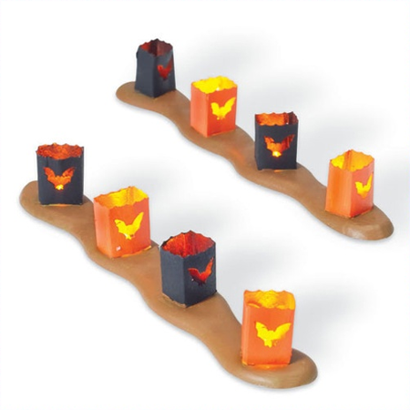 Department 56 Halloween Village Spooky Sidewalk Luminaries 810797 - The Simpsons Halloween Village