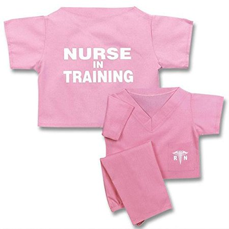 Unisex Children's Pink Nurse In Training Scrubs Suit Halloween Costume