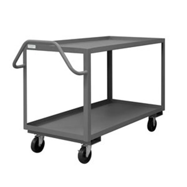 Durham RSCE1P-2448-2-5PO-95 37 in. Rolling Service Cart, Gray - 1400 lbs