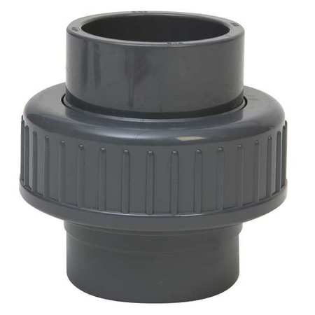 "GF PIPING SYSTEMS 1-1/2"" Socket PVC Union Sched 80, 897-375-015"