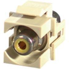 C2G 28744 C2G Snap-In Yellow RCA F/F Keystone Insert Module - Ivory - RCA