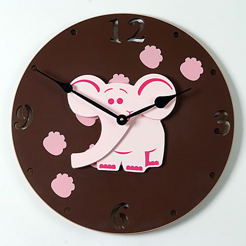 Forest Creations 18'' Elephant Wall Clock