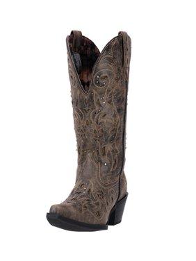 11e0b9eb35e Black Laredo Womens Western & Cowboy Boots - Walmart.com