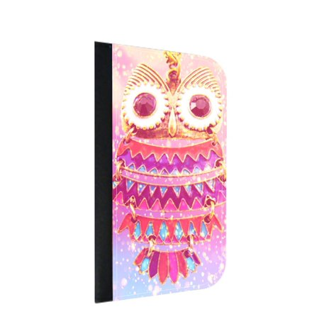Jeweled Owl Print Design - Wallet Phone Case for the iPhone 10/X/XS - iPhone X Wallet Case - iPhone 10 Wallet Case - iPhone XS Wallet Case (Iphone 4s Jeweled Wallet Case)