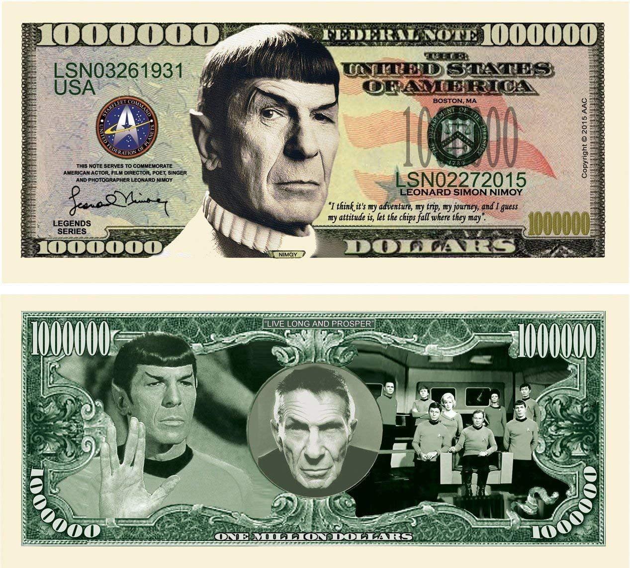 "50 /""Thanks a Million/"" Million Dollar Bills New"