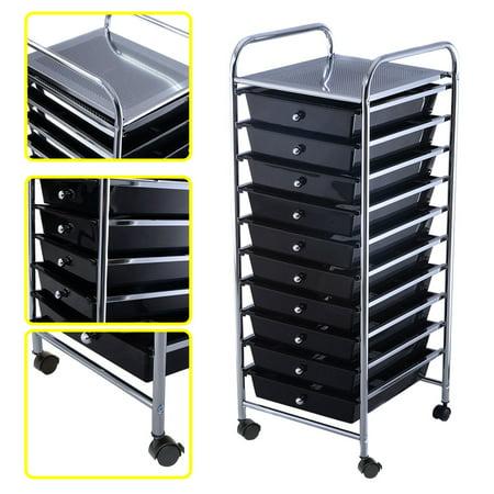 office rolling cart. contemporary cart costway 10 drawer rolling storage cart scrapbook paper office school  organizer black inside