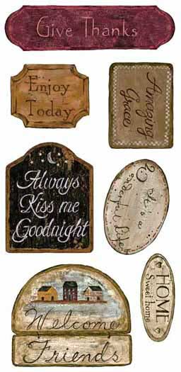 879492 Country Signs Wall Appliques by York Wallcoverings Inc