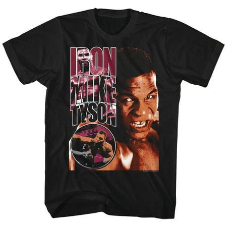 Iron Mike Tyson Staredown Fighter Boxer Champion American Classics Adult T Shirt
