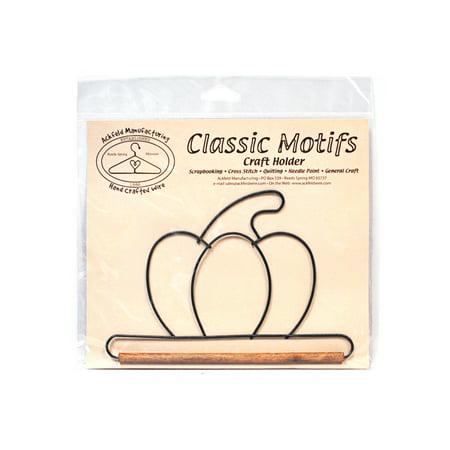 Classic Motifs Pumpkin With Dowel Craft Holder (Pumpkin Craft)